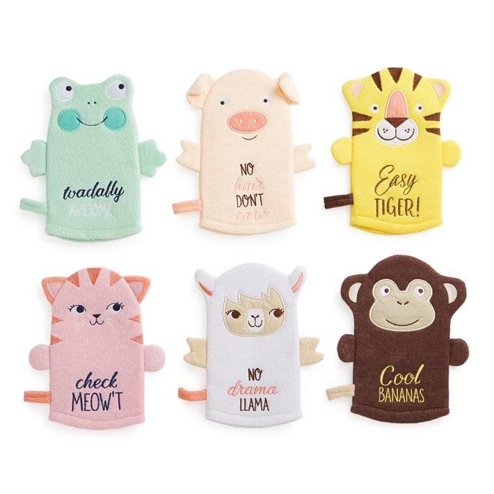 Tiny Tudes Animal Terry Cloth Wash Mia