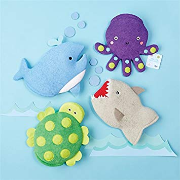 Sea Life Bath Buddy Mittens