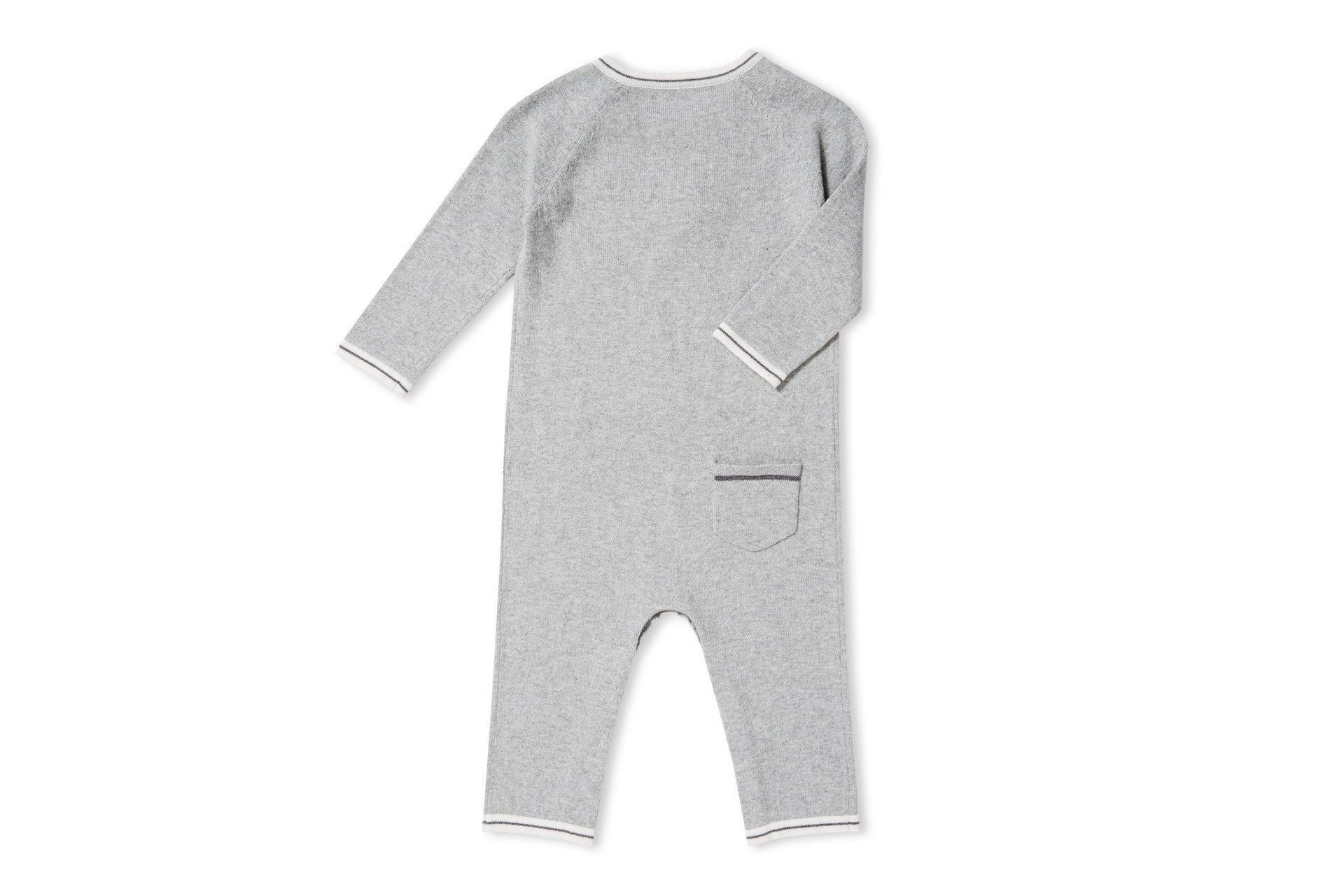 SHEEP INTARSIA COVERALL GREY
