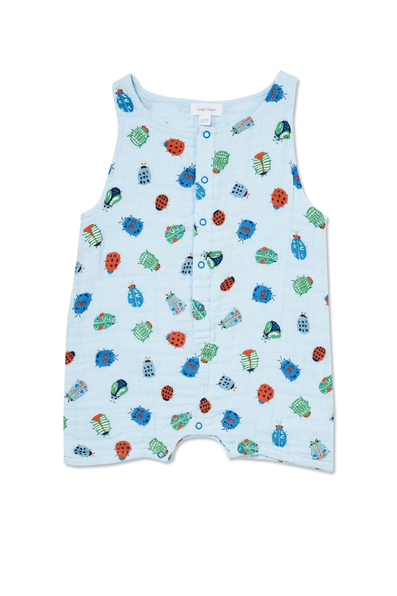 Lovely Bugs- Muslin Sleevless Shortie Romper