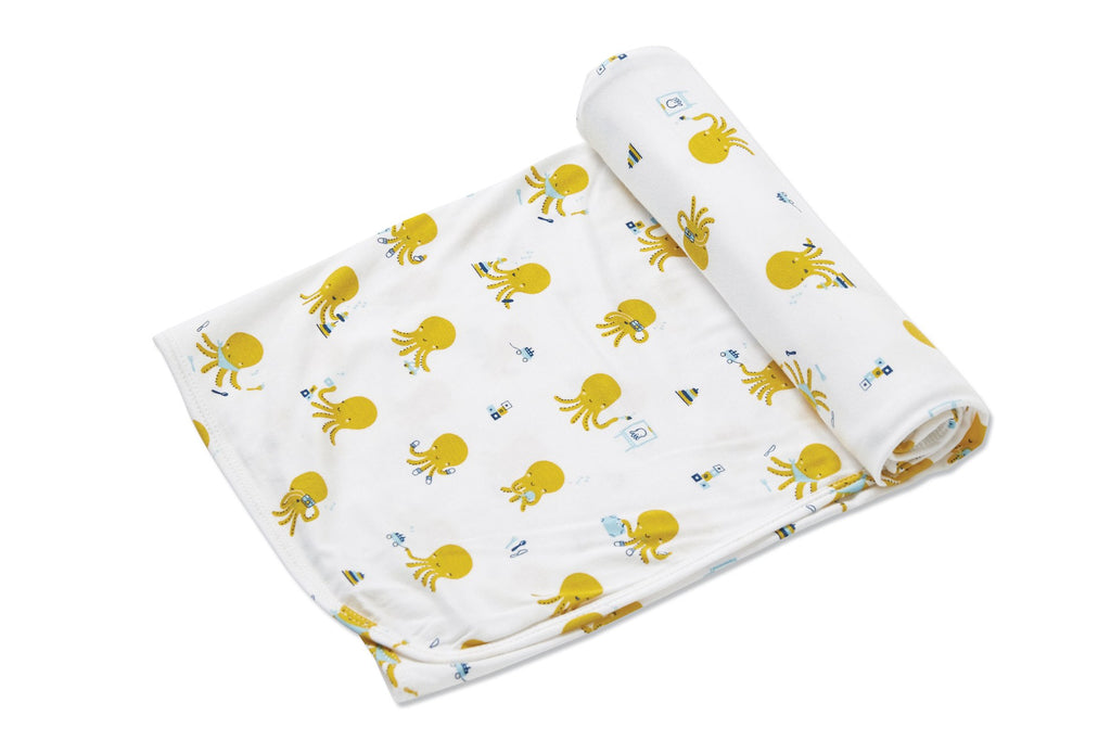 Octopus Playtime Bamboo Swaddle