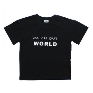 Watch out world T-Shirt-Black