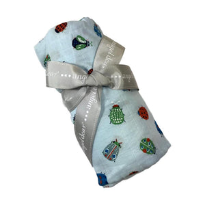 LOVELY BUGS- MUSLIN SWADDLE BLANKET