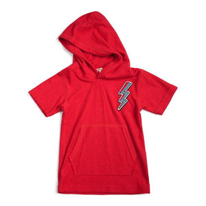 HOODED TEE - Mars Red