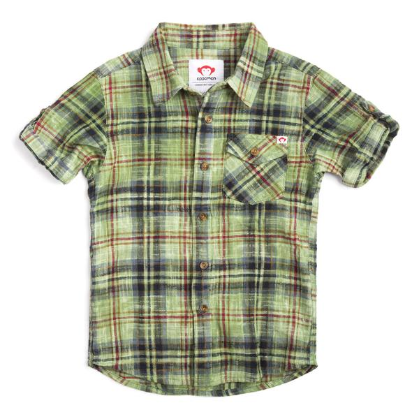 BENSON SHIRT - Golf Green Plaid