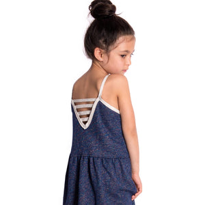 VENICE TANK DRESS - Navy Moonstone