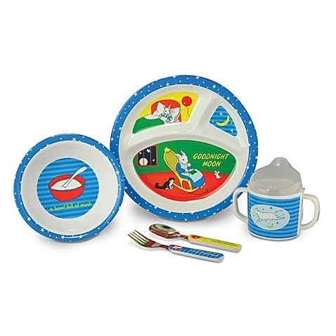 Goodnight Moon 5 Piece Melamine Mealtime Set