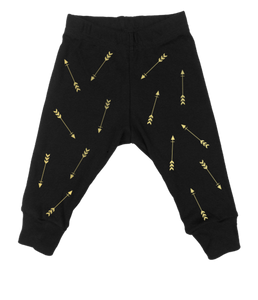 Gold Arrows Black Leggings