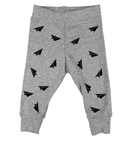 Black Paper Planes Grey Leggings