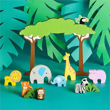 Safari Park Wooden Animal Set