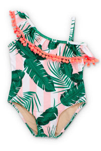 One Shoulder Botanical Pink - One Piece