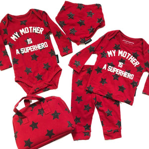 My Mother Is A Super Hero Baby Set
