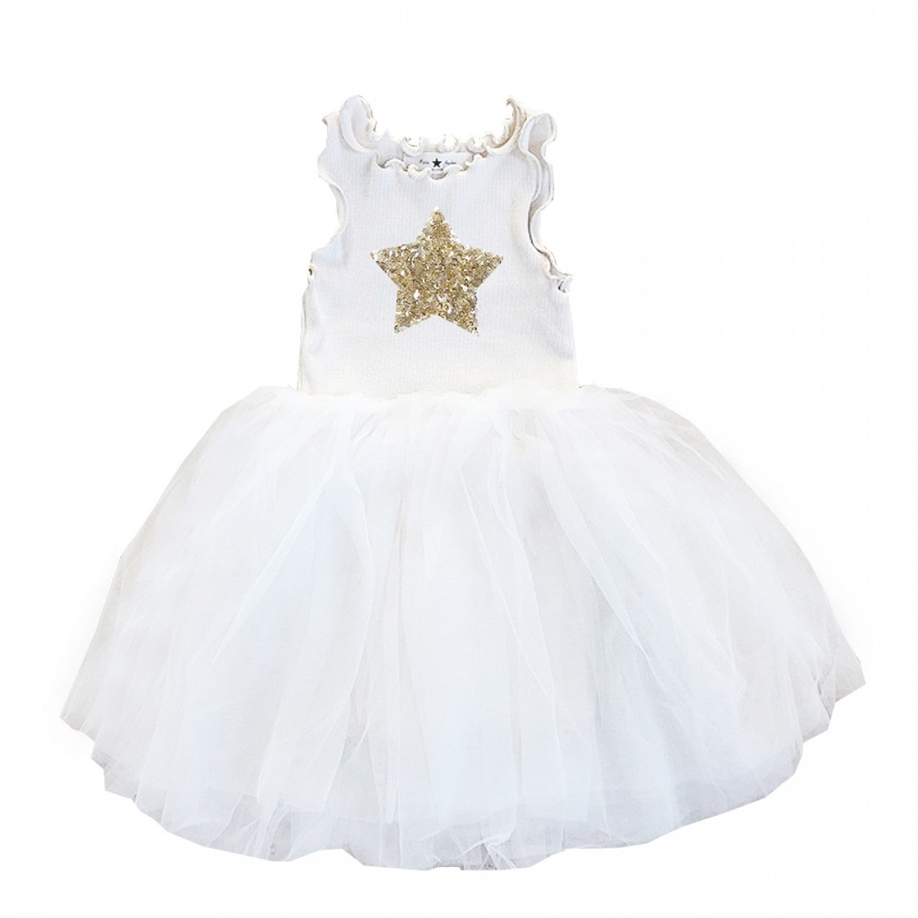 Star Tutu Dress-White