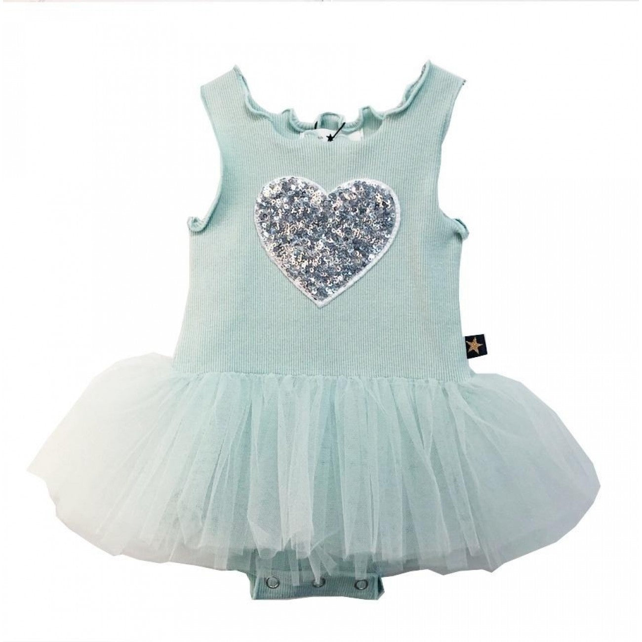 PH HEART BABY TUTU DRESS-MINT
