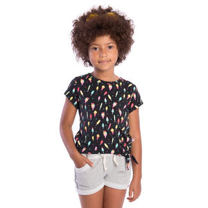 ICY TREATS PHING TEE - Speckled Charcoal