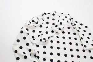 Black/White Pocka Dot Rashgaurd Set