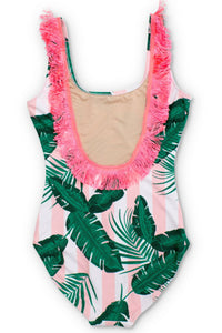 Botanical Fringe Pink - One Piece ( ADULT ) Mommy & Me