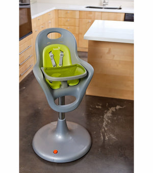 BOON FLAIR HIGH CHAIR- Silver/Green