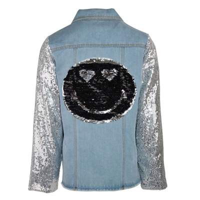 EMOJI SEQUIN FLIP DENIM