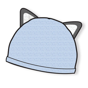FOX EAR BEANIE BLUE