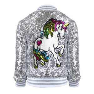 GIRLS UNICORN SEQUIN BOMBER