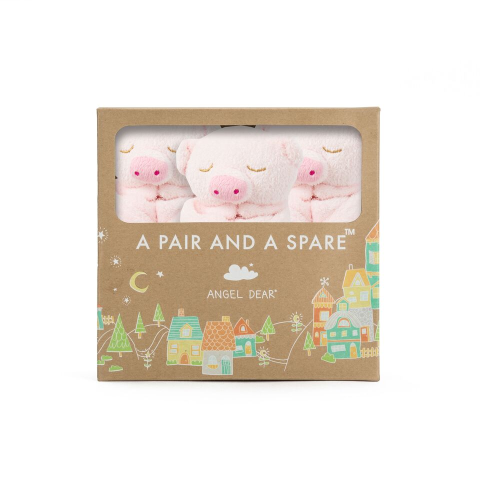 A PAIR AND A SPARE- PINK PIG