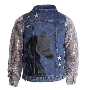 MIDNIGHT UNICORN DENIM JACKET