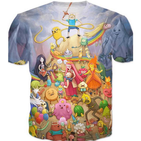 Adventure Time T-Shirt with Finn and his Friends