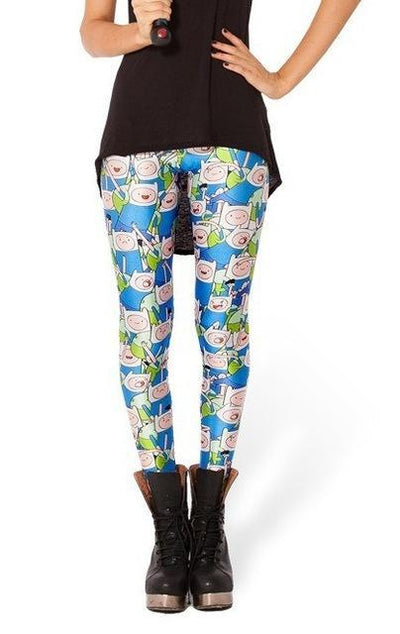 Womens Adventure time leggings with a Jake Pattern