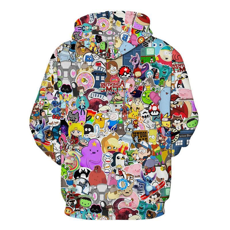 Sticker Bomb Hoodie | Cartoon Network Characters and Classic Internet Memes