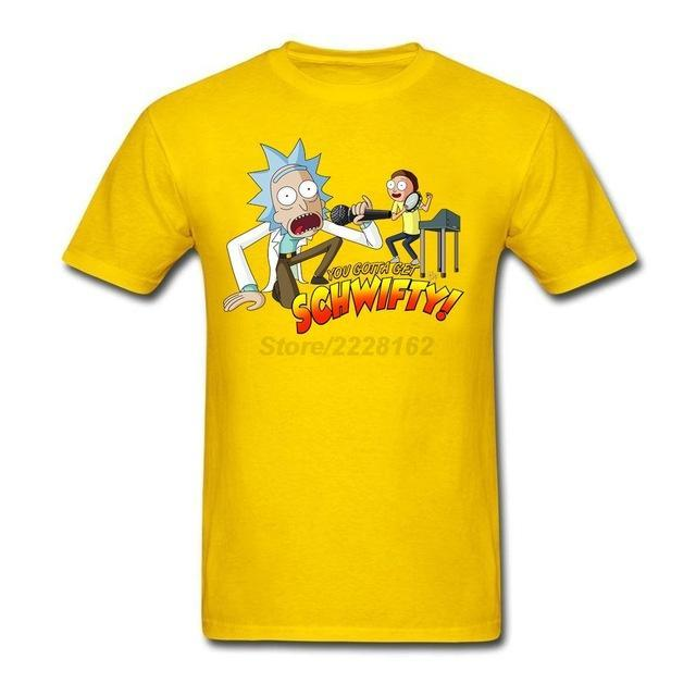 Black Rick and Morty Get Schwifty T Shirt