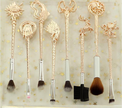 Metal Game of Thrones Makeup Brushes