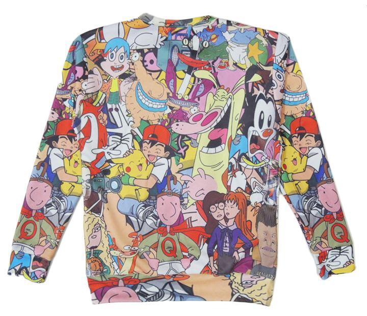 90s Cartoon Sweatshirt - Pokemon, Hey Arnold, Doug, Rocko's Modern Life Loony Toons, Dexters Lab