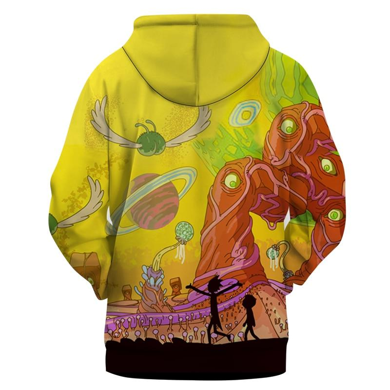 Trippy Planet Rick and Morty Hoodie