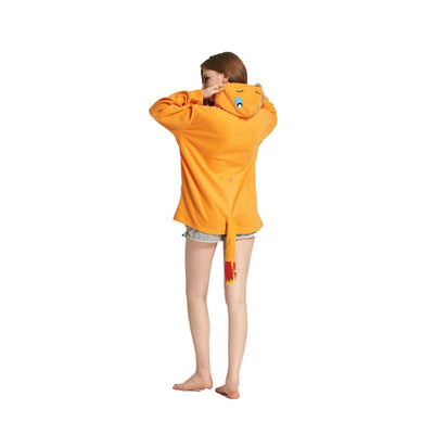 charmander hoodie with tail