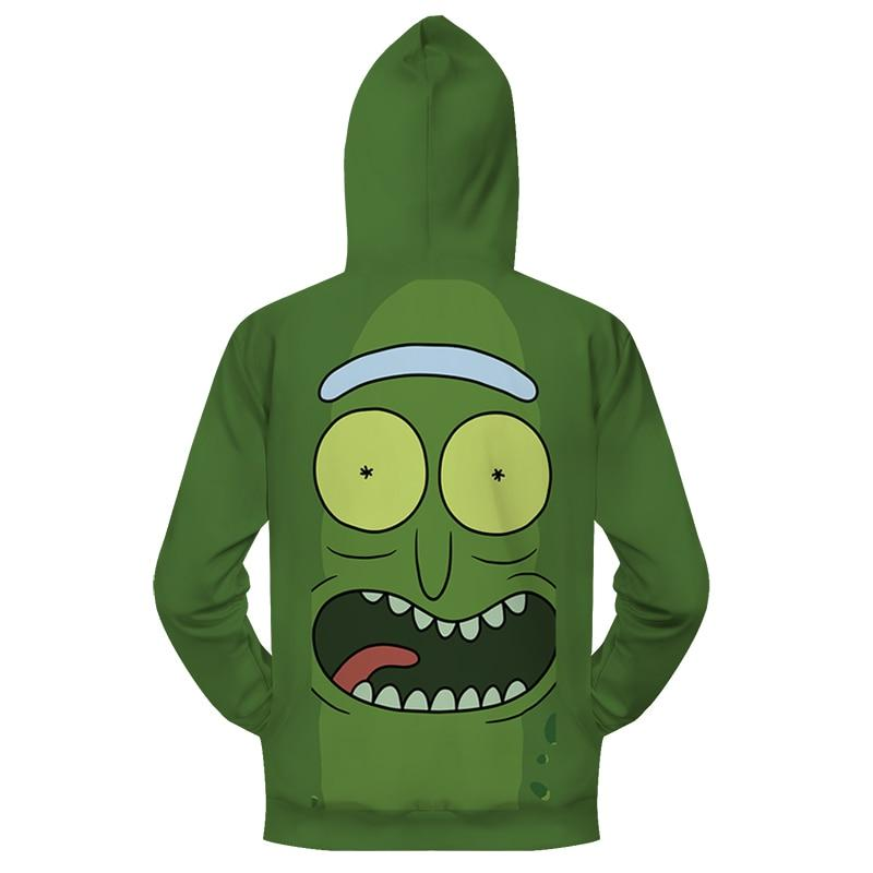 Pickle Rick Zip Up Hoodie