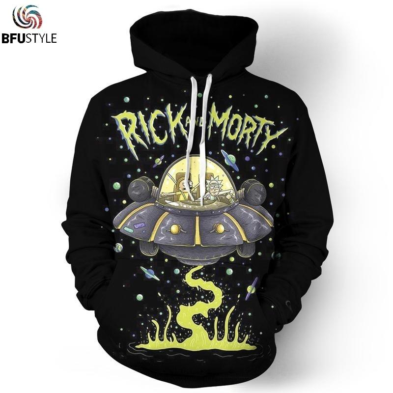 Rick and Morty UFO Hoodie