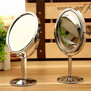 Double Sided Magnifying Round Makeup Mirror - www.kisstrend.com