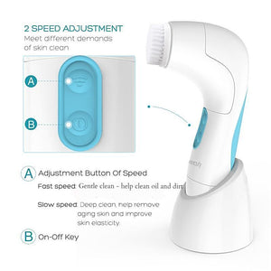 ETEREAUTY SR-03G 5 in 1 Waterproof Electric Facial and Body Cleansing Brush - www.kisstrend.com
