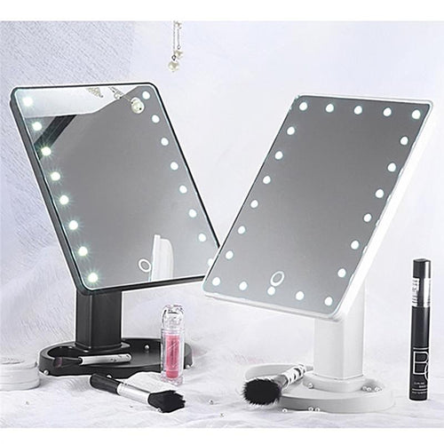 Vanity Mirror - Touch Screen LED Makeup Mirror with 22 LED Lights - www.kisstrend.com