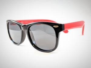 Central Park Wayfarers in Black&Red