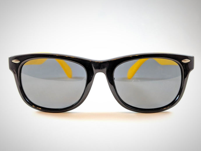 Central Park Wayfarers in Black&Yellow