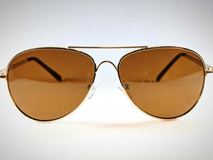 SECONDS Arches Aviators in Gold