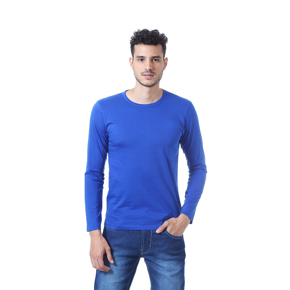 01bf894e2 Goat Solid Men's Round Neck T-Shirt - Full Sleeve – Shop A Goat
