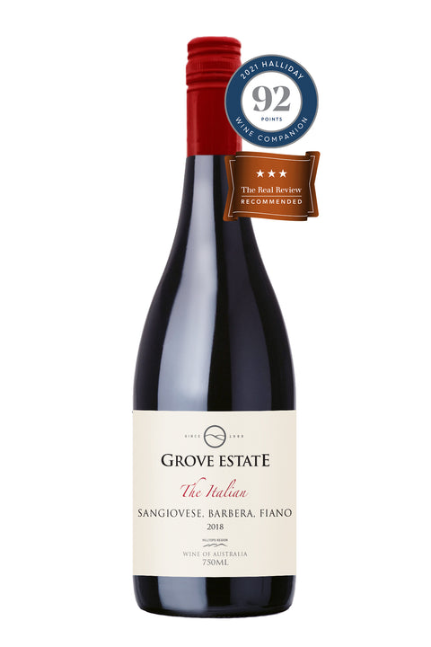 Grove Estate Hilltops The Italian Sangiovese Barbera Fiano 2018