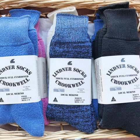 Lindner Socks, Local Merino Wool Socks, Thick Full Cushioned, 2343