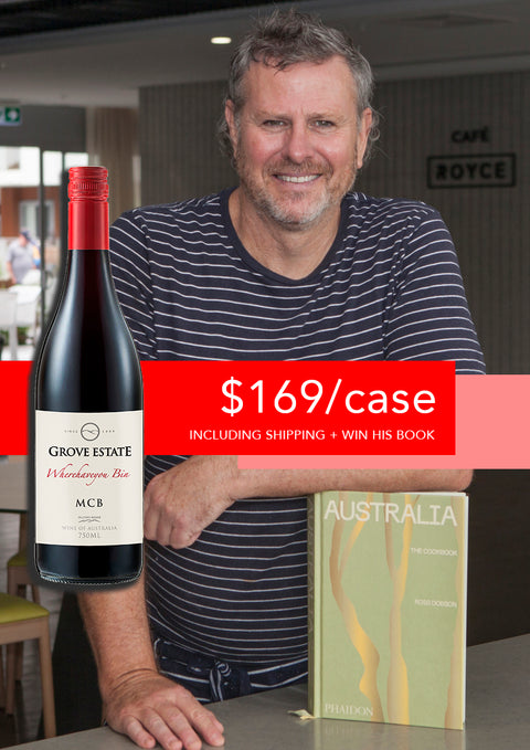 12 bottles of Grove Estate MCB - $169 including shipping, plus enter the draw to win Ross's latest signed cook book (worth $65, limited stock)!