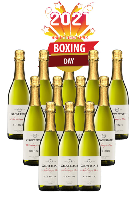 Boxing Day/ New Year Madness! Grove Estate Wherehaveyou Bin, Bin Fizzin, 1 case deal free shipping
