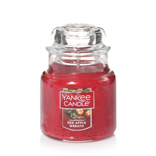 Red Apple Wreath Small Jar Candle