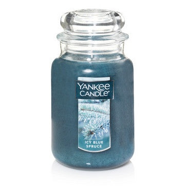 Icy Blue Spruce Large Jar Candle